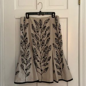 Etcetera embroidered skirt